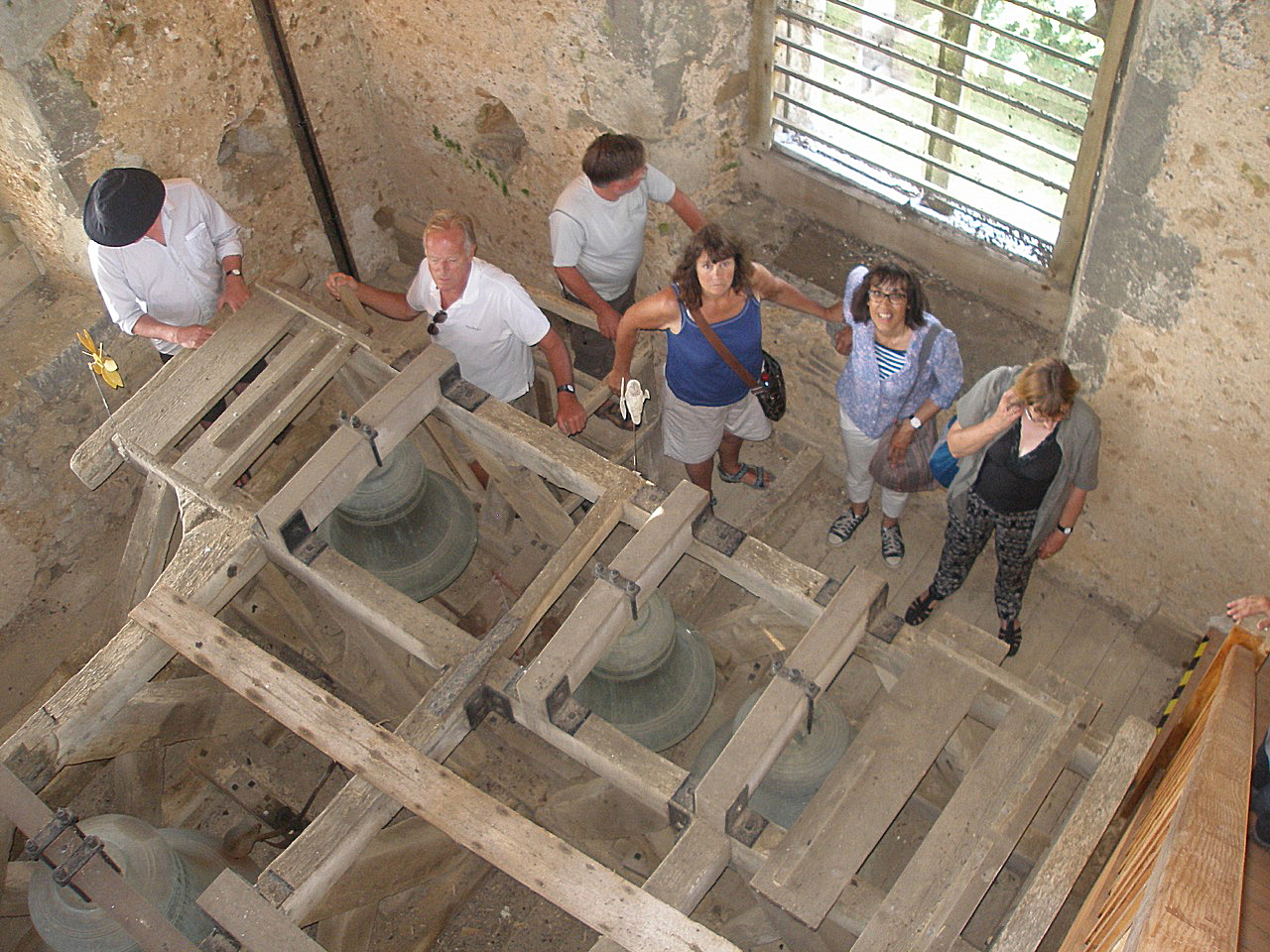 Visitors on their way up the tower.